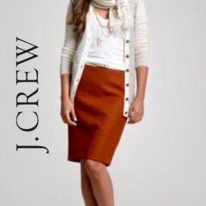 J crew 100% wool burnt orange pencil skirt